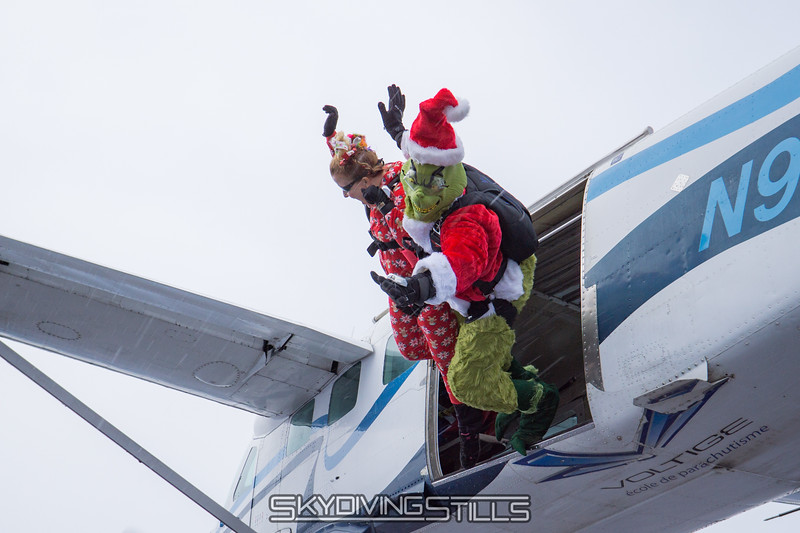"""The Grinch and Cindy Lou Who dive out. <br><span class=""""skyfilename"""" style=""""font-size:14px"""">2017-11-18_skydive_cpi_0033</span>"""