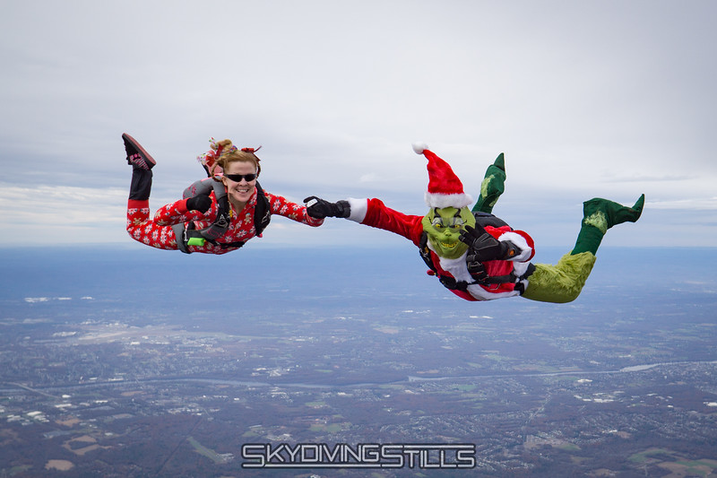 "Cindy and the Grinch. <br><span class=""skyfilename"" style=""font-size:14px"">2017-11-18_skydive_cpi_0048</span>"