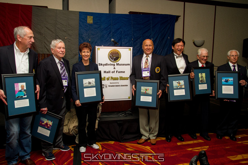 """2015 Skydiving Hall of Fame inductees. Published in Parachutist, December 2015. <br><span style=""""font-size:14px"""">2015-10-03_skydive_cpi_0355</span>"""