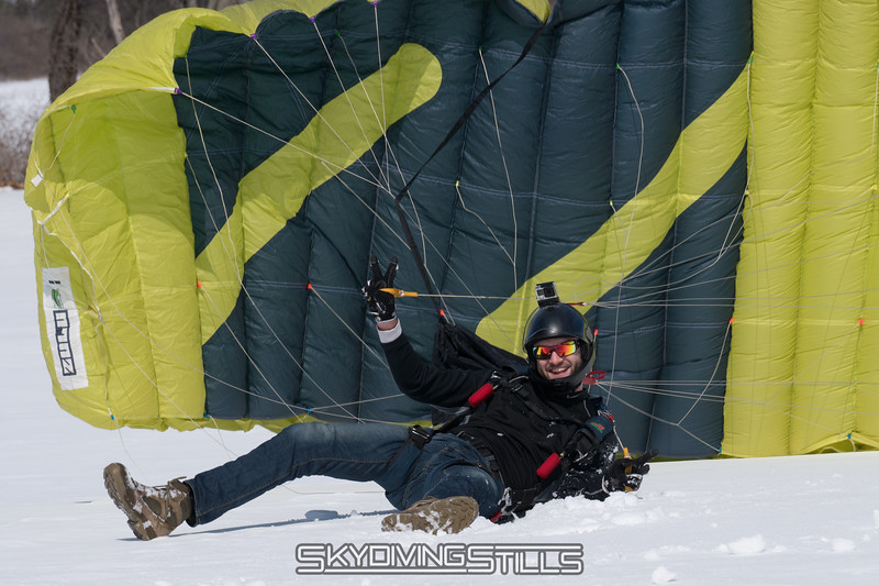 """Unfortunately all my pictures of the rest of his spectacular landing were blurry. Published in Parachutist, November 2017. <br><span class=""""skyfilename"""" style=""""font-size:14px"""">2017-03-18_skydive_cpi_0209</span>"""