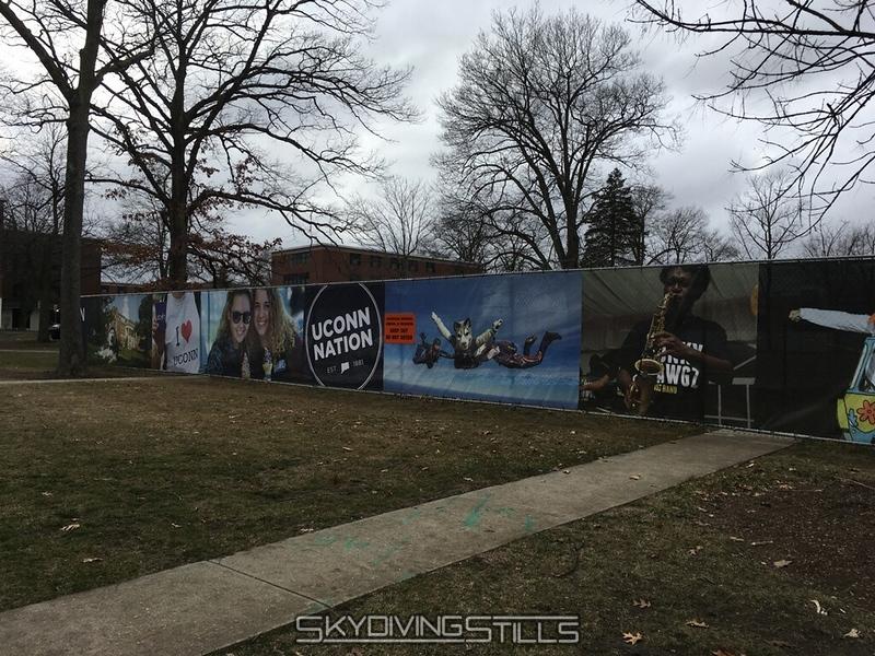 Construction fence at UConn.