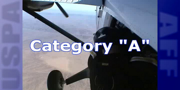 "Category A:<br /> Climb out<br /> ""CHECK IN!""............instructor ""OK!""<br /> ""CHECK OUT!"".......instructor ""OK!""<br /> ""PROP, UP, DOWN, ARCH, 2, 3, 4, 5""<br /> COA"