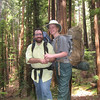 Madeline and I in the redwoods