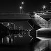 Minneapolis Skyline and Lowry Avenue Bridge - Blue