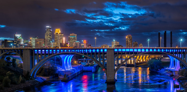 Minneapolis Skyline Pano from the U of M.