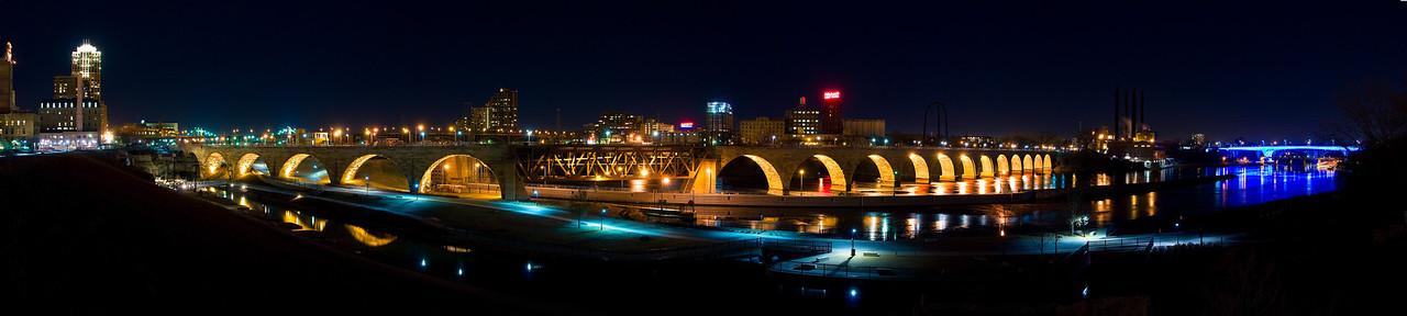 Stone Arch Bridge and 35W Bridge---SL1006