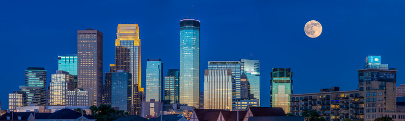 The June 2014 Honey Moon and Downtown Minneapolis.