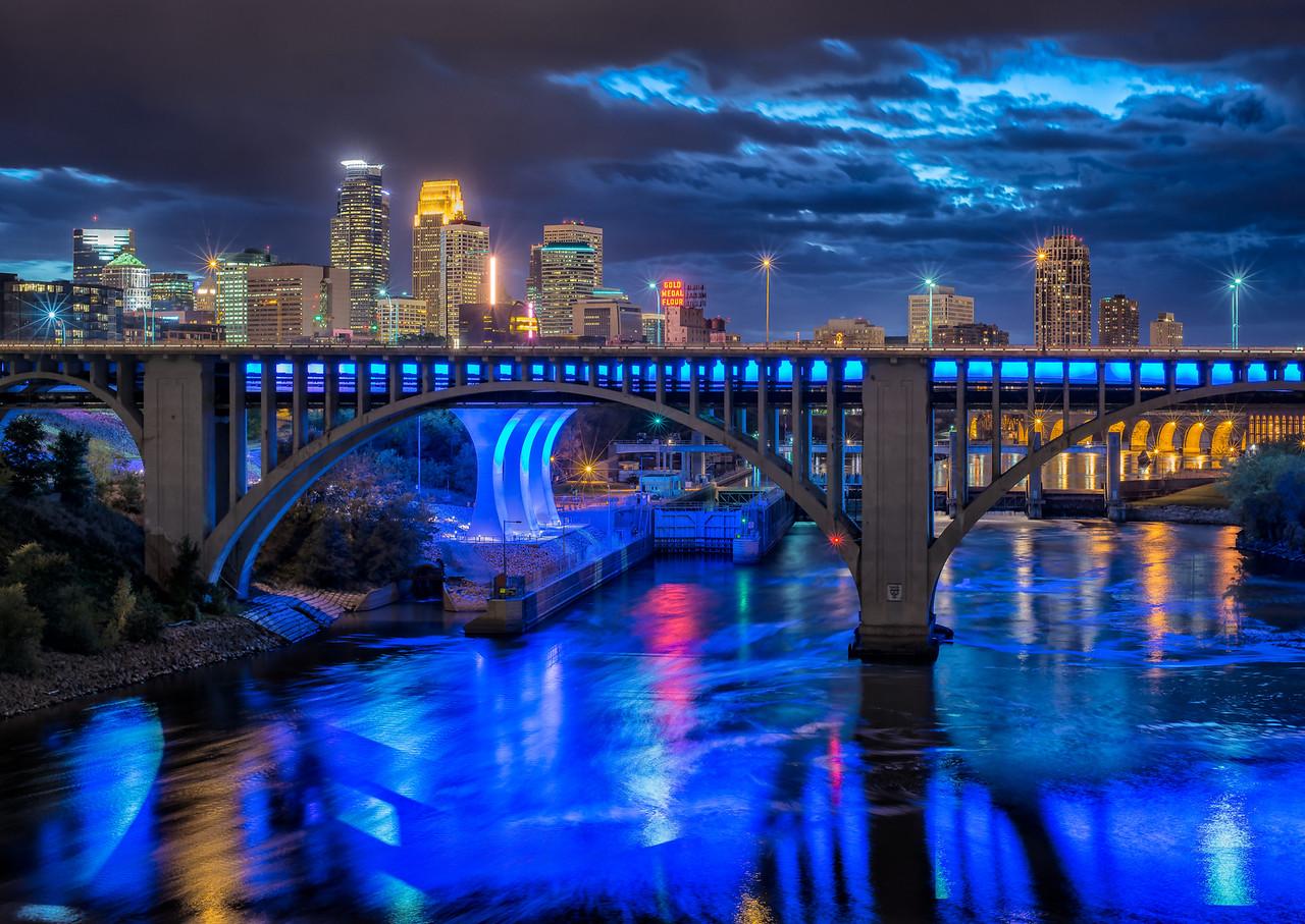 Minneapolis Skyline from the U of M.