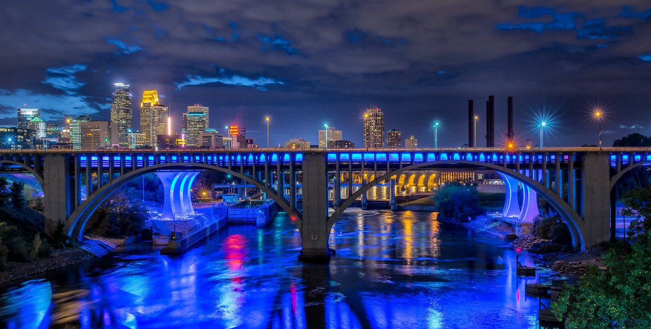 Minneapolis Skyline Pano from the U of M.