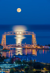 Hunter Full Moon_Duluth Harbor.