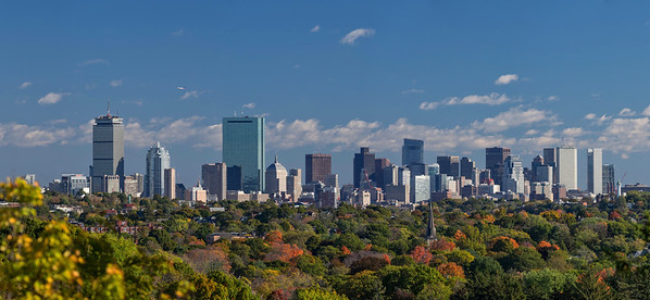 Boston Skyline from Jamaica Plain