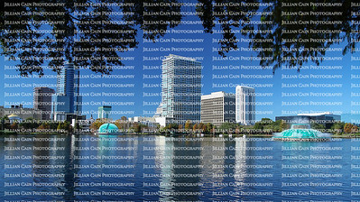 Scenic view of downtown Orlando's skyline as seen from Lake Eola Park