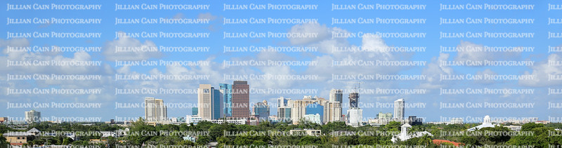 Panaramic view of Fort Lauderdale's skyline