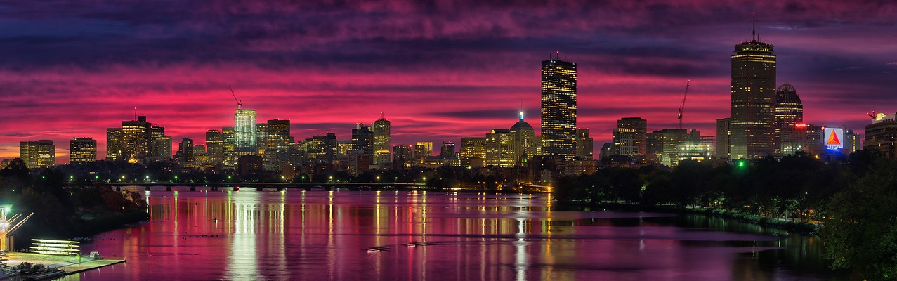 Fiery Boston Sunrise