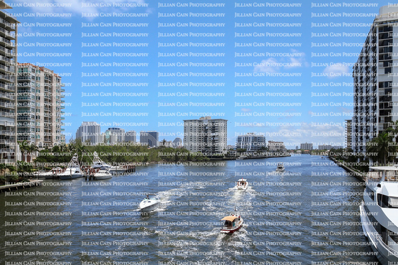 A busy day on the Intracoastal waterway in Fort Lauderdale