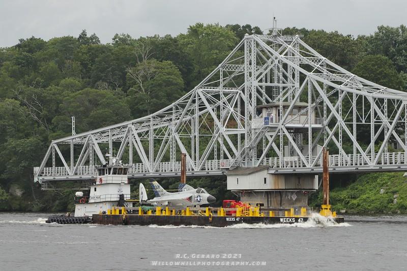 Passing the East Haddam Swing Bridge