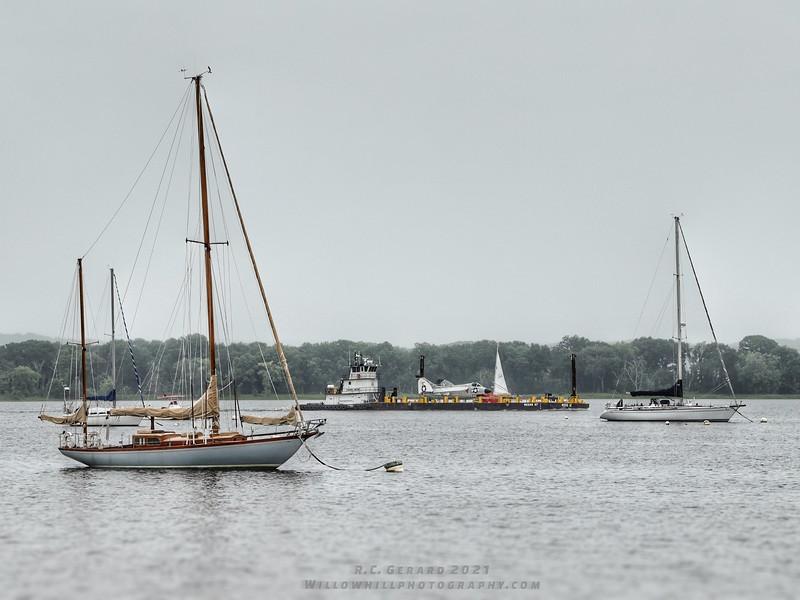 At Essex Harbor.