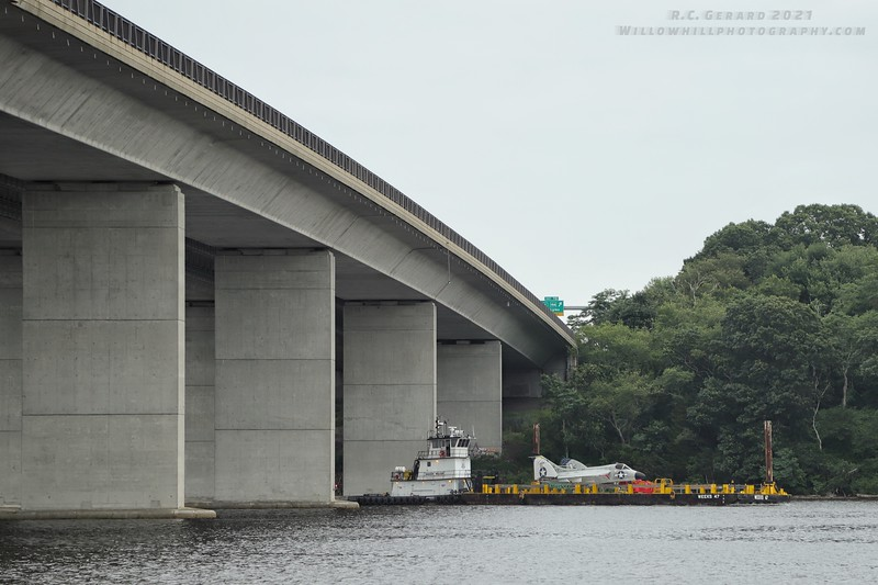 Under the I-95 Baldwin Bridge.