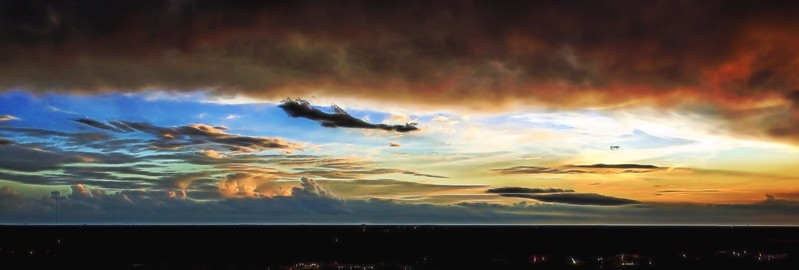Bird's Eye View of Sunset
