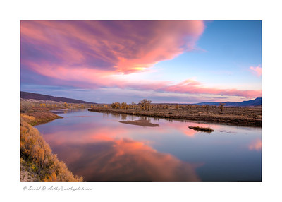 Late Autumn Sunset reflected in the Green River, Browns Park NWR, Colorado