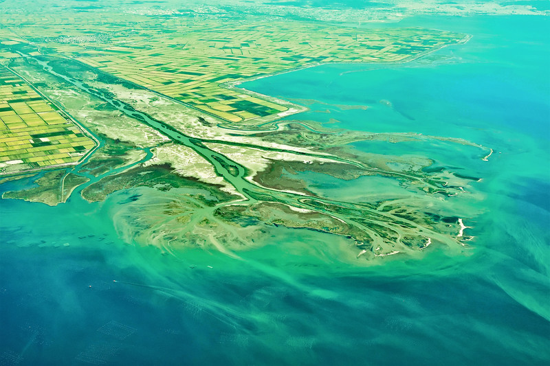 'Birdfoot' delta of the Axios River in the Gulf of Thermaikos (Aegean Sea), northern Greece