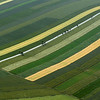 Striped countryside in the Vienna region, Austria