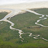 Meandering tidal creeks on the southeast coast of the island of Terschelling, The Netherlands
