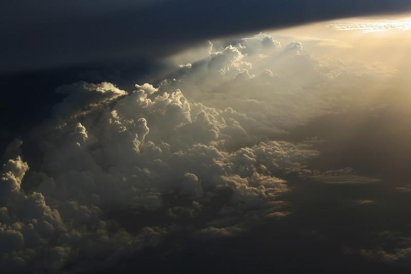 Lightplay under anvil of large thundercloud, Niger