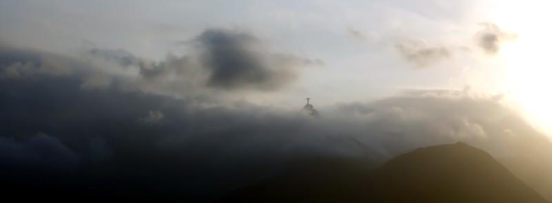 Statue of Christ the Reedemer on Corcovado mountain (710 m) in Rio de Janeiro, Brazil