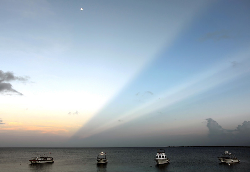 Shadows behind early morning thunderstorm, Bonaire