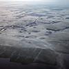 Early morning ground fog over polder near Alkmaar, The Netherlands