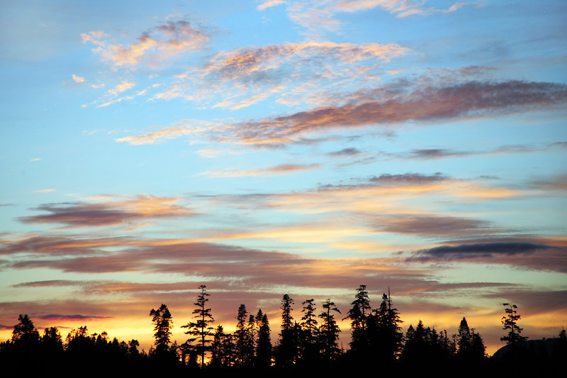 Afternoon sky on Vancouver Island, western Canada
