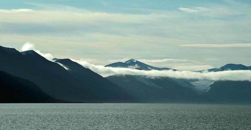 Early morning over the inner Van Keulenfjorden, Svalbard