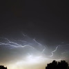 Cloud to cloud lightning near Leiden, The Netherlands