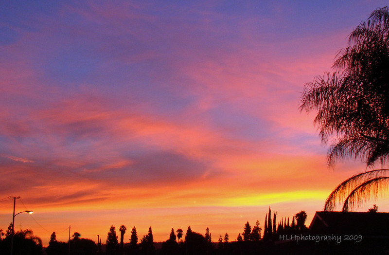 "A spectacular sunrise,  Rowland Heights, CA "" The heavens declare the glory of God..."" Ps 19:1a"