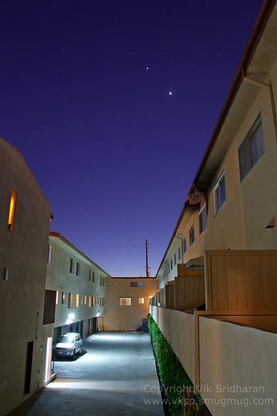 Venus and Jupiter still a-conjuncting....