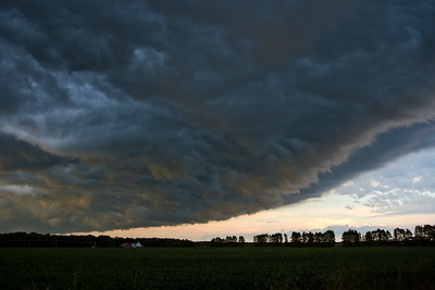 A shelf cloud darkening Sherburne National wildlife refuge