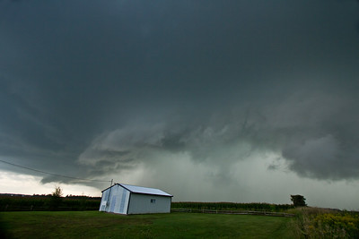 Supercell thunderstorm in Benton County 8-24-2014