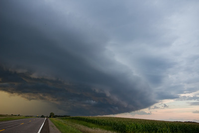 A Shelf cloud over Sherburne county, summer 2014