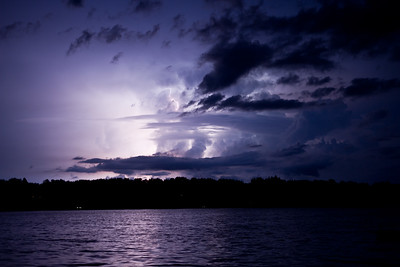 A storm over a northern MN lake July 2014
