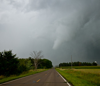 Benton County EF0 crossing the road, Aug 24, 2014