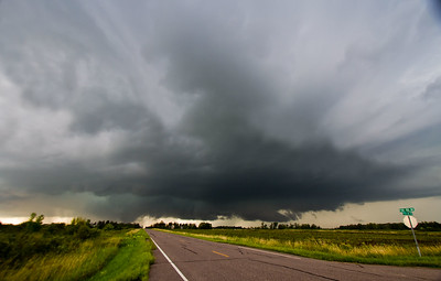 Benton County Supercell with tornado 8-24-2014
