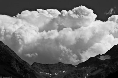 Thunderhead over Hohe Tauern,  Austrian Alps