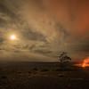 Supermoon rises at Halema'uma'u