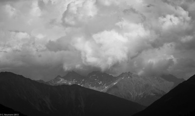 Convective clouds in the Hohe Tauern, Austrian Alps