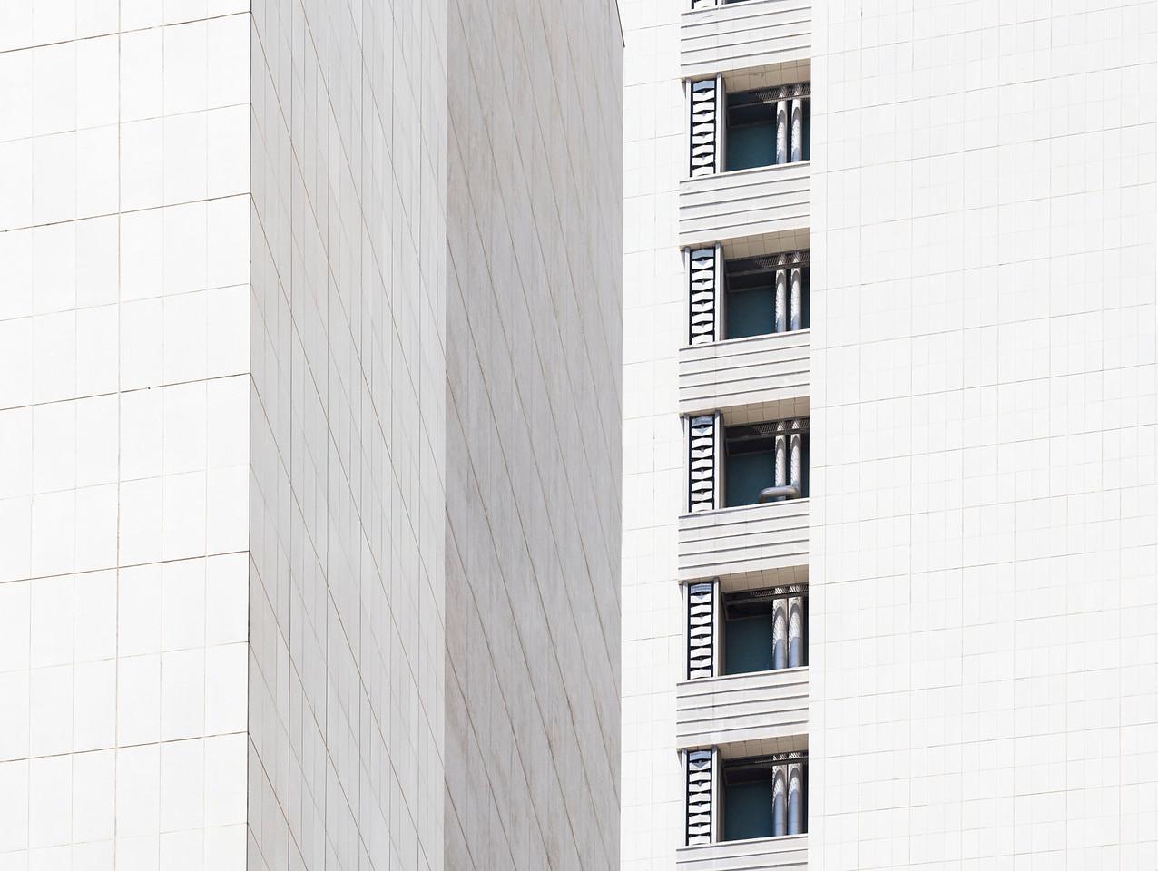 LA White Skyscraper 2015