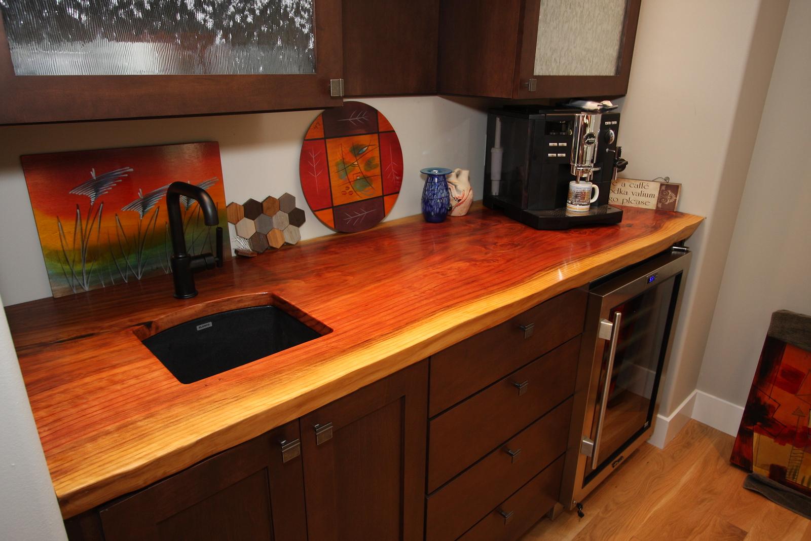 Sequoia, hand rubbed finish, undercut sink