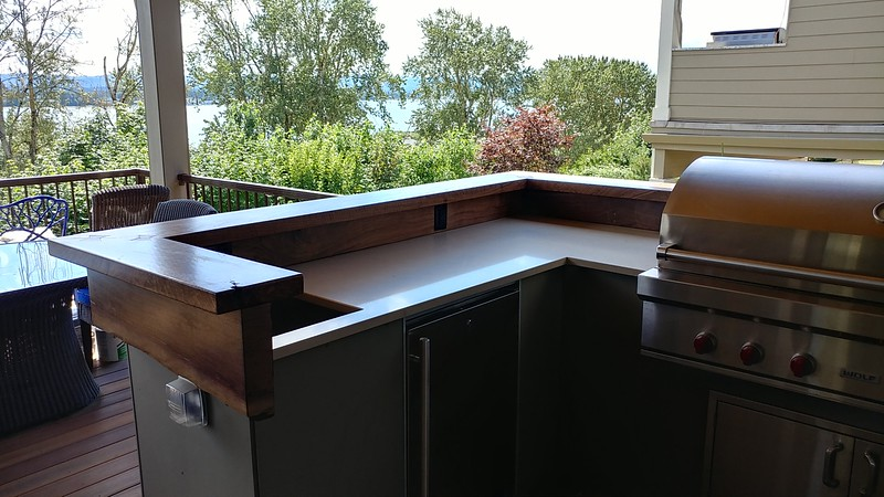 Black Walnut outdoor bar