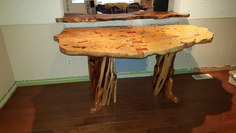 Maple burl Kitchen table