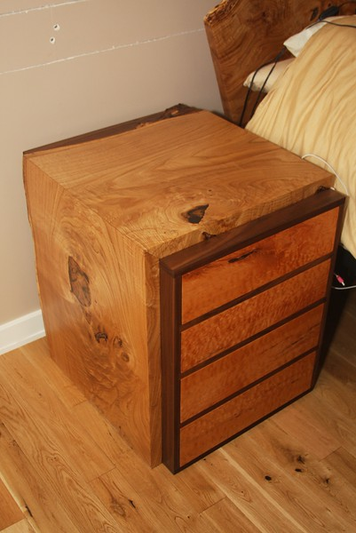 Chestnut Waterfall Night Stand